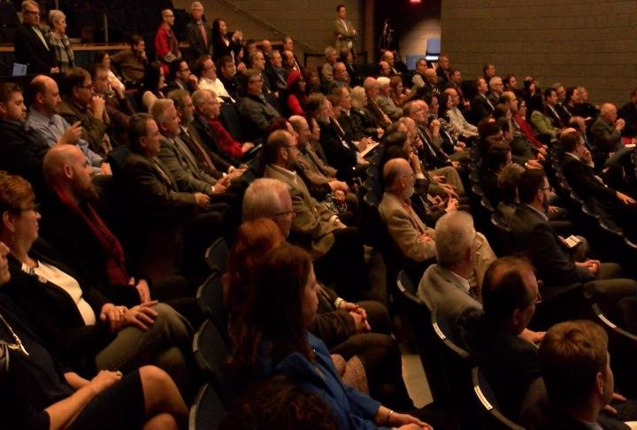 The crowd for GREDF's annual meeting consisted of city and county business leaders.