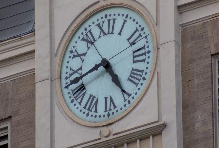 The clock dates back to 1900.
