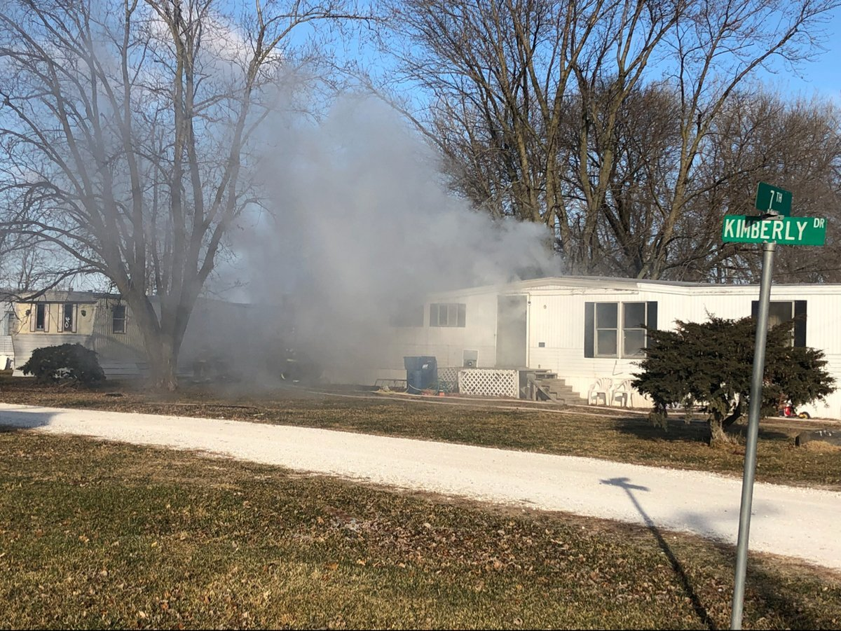 Heavy smoke coming from the home.