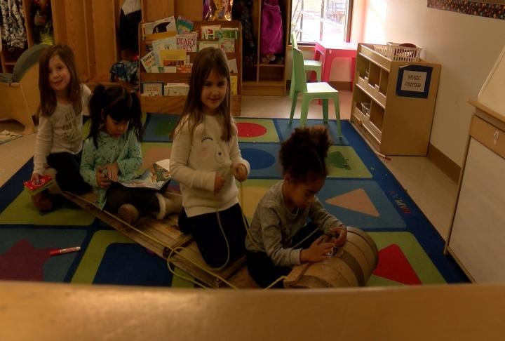 Kids playing at Cheerful Home in Quincy.