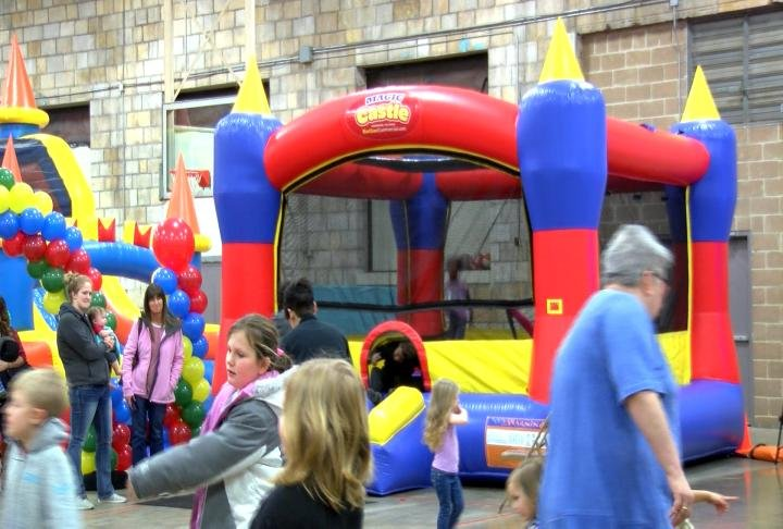 Bounce House for dozens of kids.