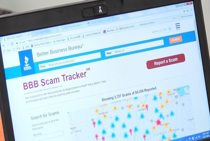 Scam tracker on the BBB's website