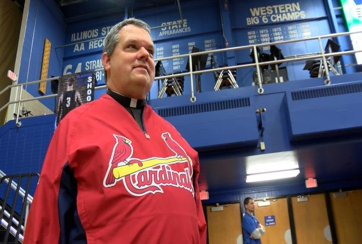 Blessed Sacrament priest Father Chris Comerford will be the St. Louis Cardinals Catholic chaplain this season.