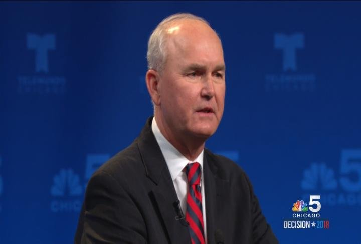 Bob Daiber, a downstate democrat candidate, talks during the Illinois Democrat Governor Candidate Forum