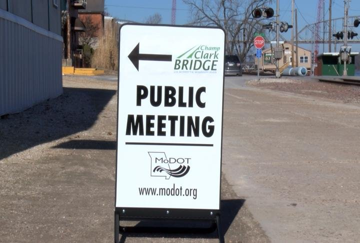 The public meeting was held at the riverfront.