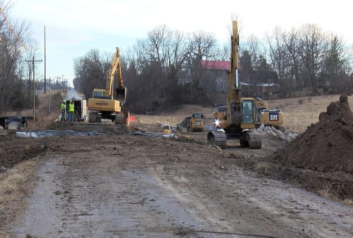 The Bear Creek bridge project is already underway on County Road 423 at Withers Mill.