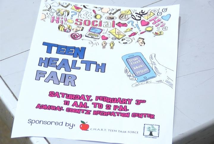 Teen health fair flyer