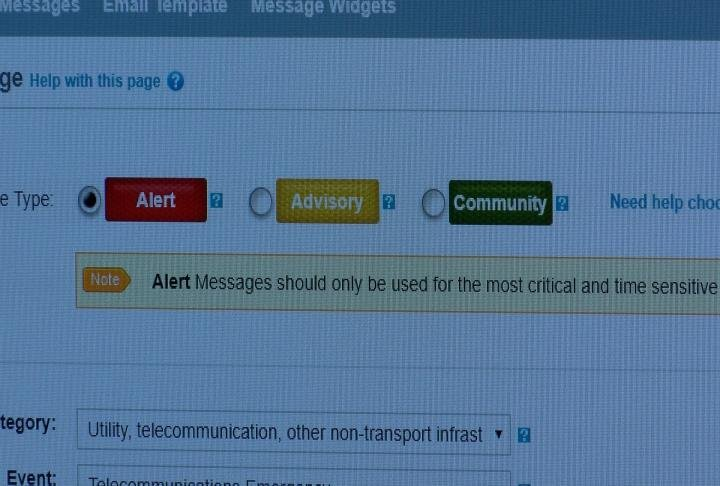 Adams County EMA said they text their alerts on a monthly bases.