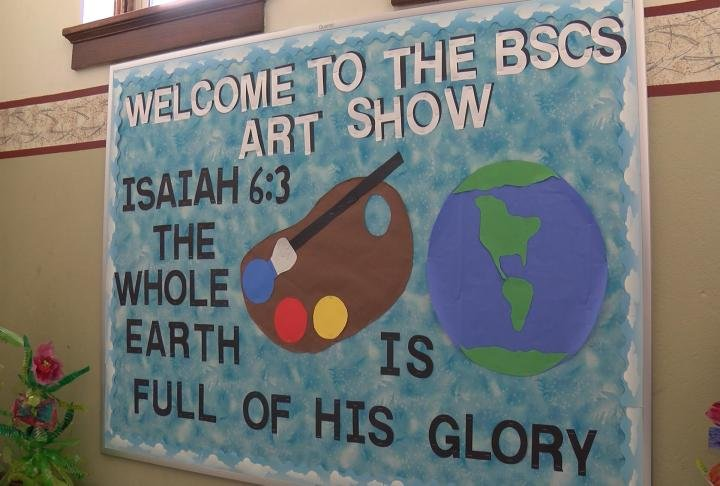 Blessed Sacrament Catholic School hosted their first art show.