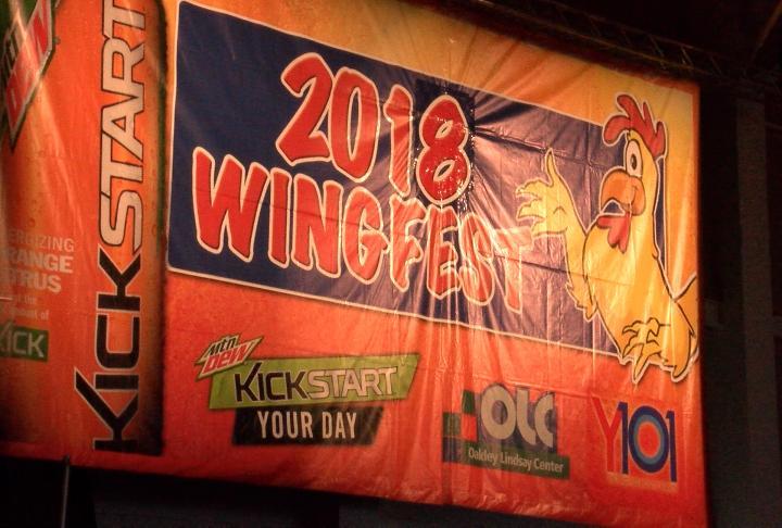 Wing Fest banner.