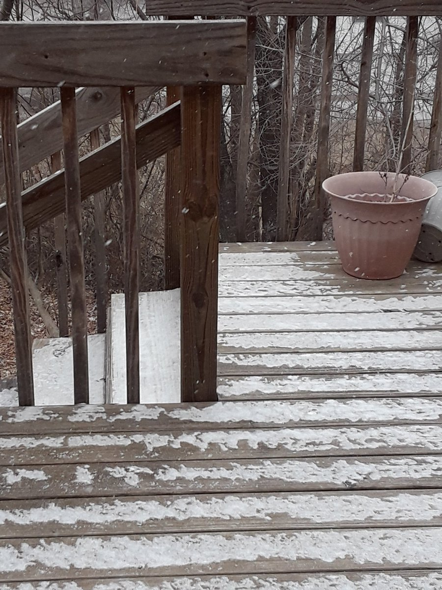 Snow in Hannibal. Picture sent in from Laura Good Buffalo.