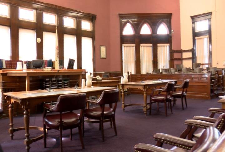 Courtroom in the Pike County Courthouse
