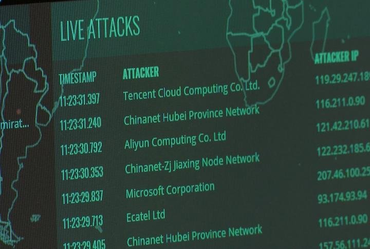 List of live attacks on the web page.
