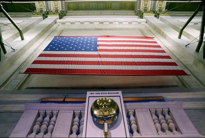 Flag at New York Stock Exchange