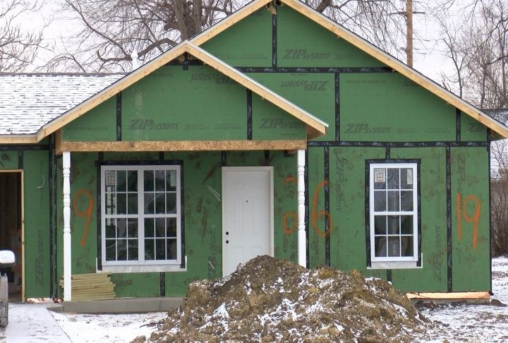 Four homes are still being built