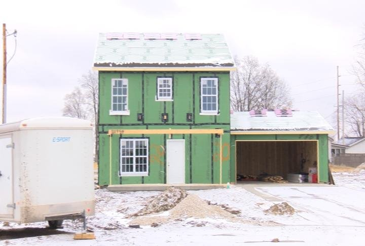 House being built for affordable housing