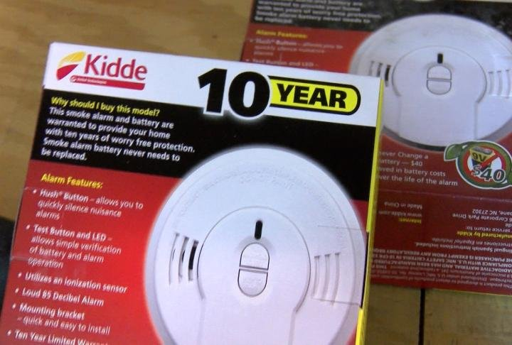Smoke detectors that will be installed
