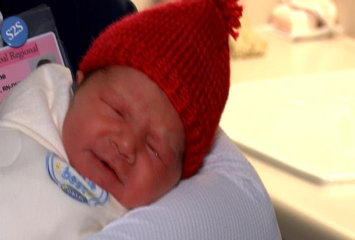 Red hats will be worn at the hospital for the rest of February.