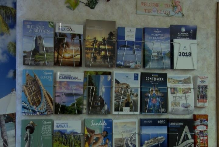 Brochures at the Travel House in Quincy