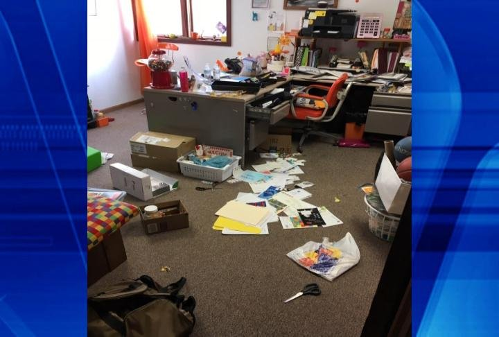 Picture from Farris on break-in Monday night.
