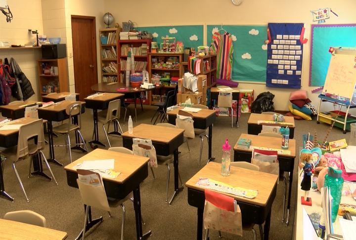 Classroom at Keokuk Christian Academy.
