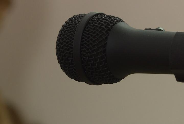 Microphone in the council chambers