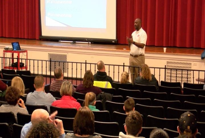 Galloway's presentation centered around substance abuse.