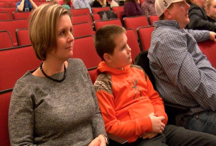 Hannibal mom Jennifer Wilson at Galloway's discussion with her son.