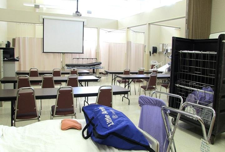 The nursing classroom at John Wood Community College.