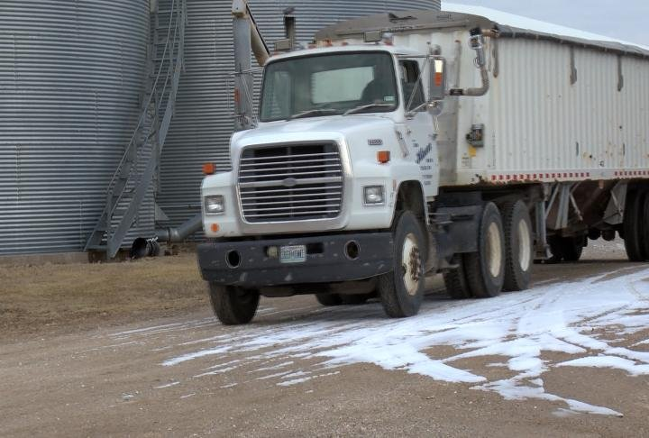The truck Haerr uses to deliver seed.