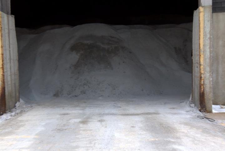 Quincy Central Services said their salt supply is in good shape.