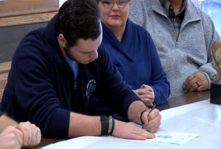 Highland standout lineman Riley Eisenberg is bound for Westminster College in the fall.