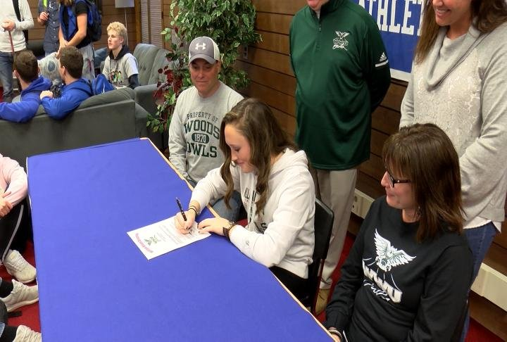 Quincy High's Krystal Burgtorf signed on with William Woods golf on Friday.