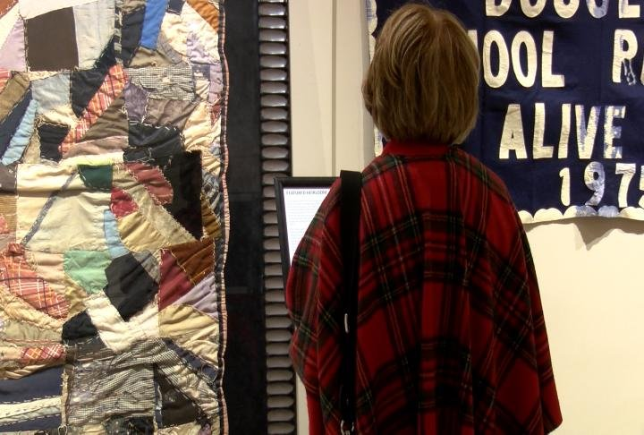 The exhibit opened Friday night,dedicated to African-American art.