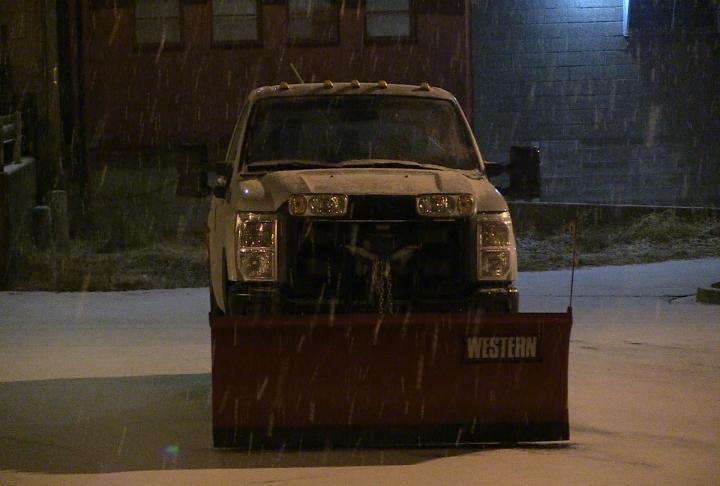 A truck during the winter advisory.
