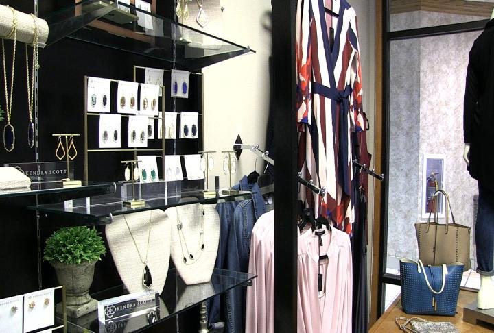 Inside Ally's Boutique.