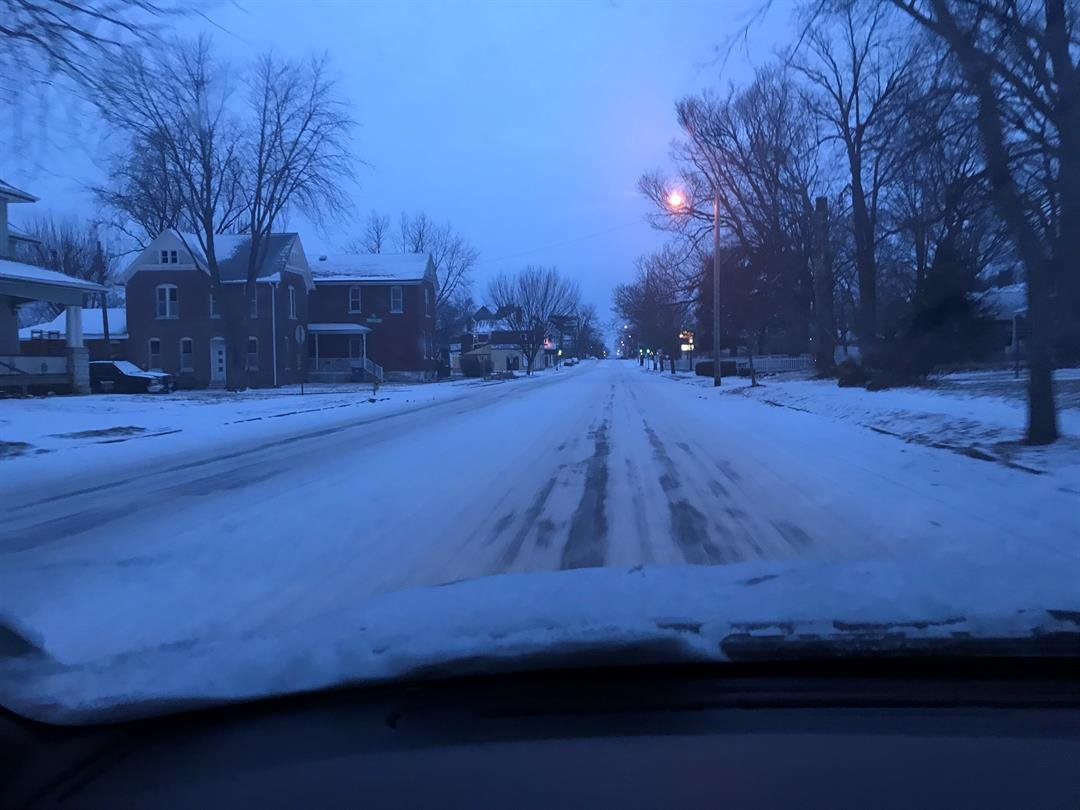 A look at road conditions Sunday morning in Quincy
