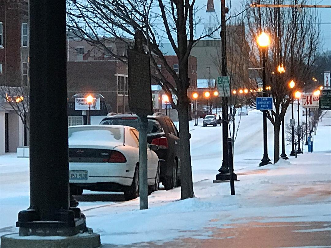 Maine St. in Quincy Sunday morning