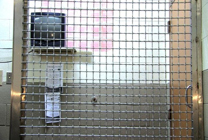Inside a jail cell at Schuyler County jail.