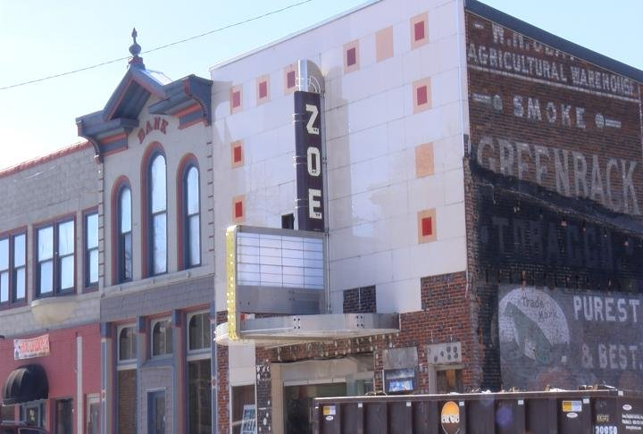 The Zoe Theater in Pittsfield, Illinois