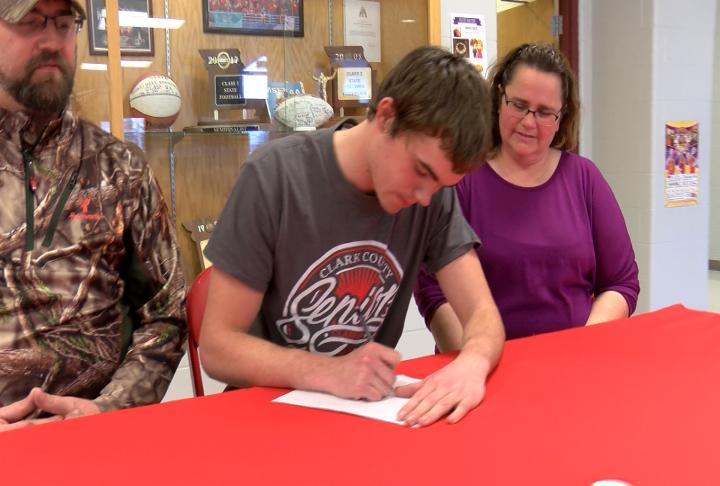 Clark County's Joe Crowell pledged Culver-Stockton football on Monday.