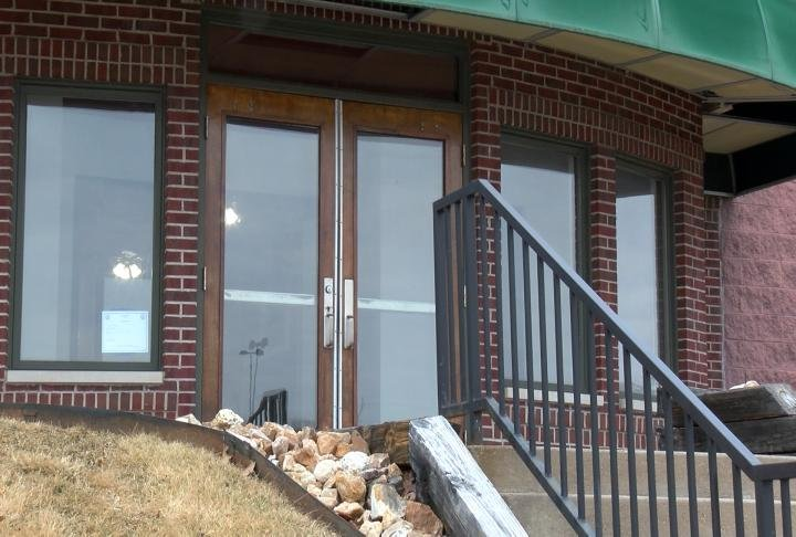 Front doors to the where the new restaurant will be located.