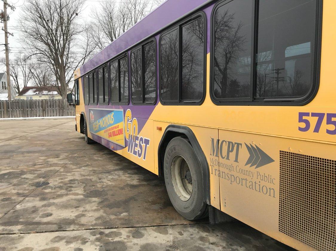 A Go West transit bus
