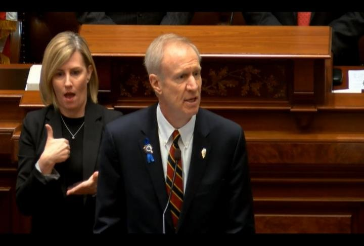 Governor Rauner spoke about his budget plans on Wednesday.