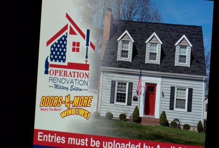 A chance to help renovate a military member's home.