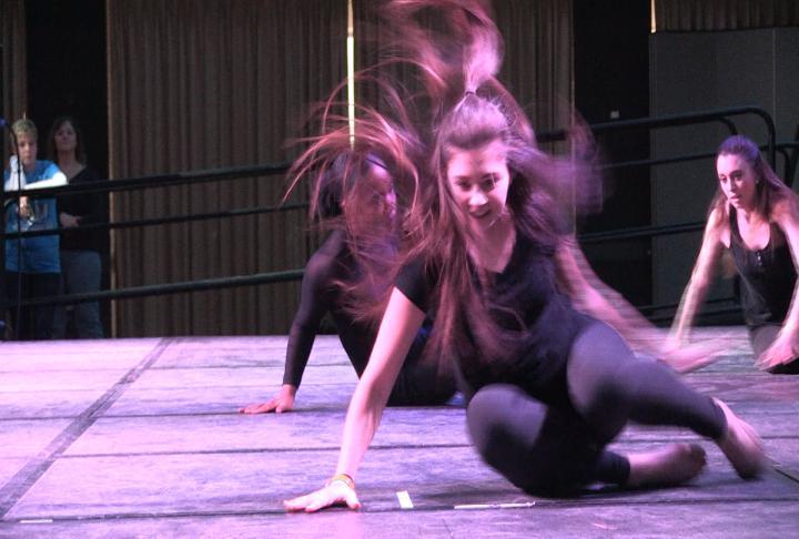 A performance during the dance marathon.