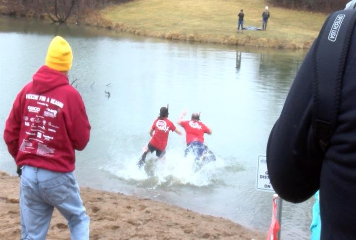 People took the plunge at upper Moorman Park