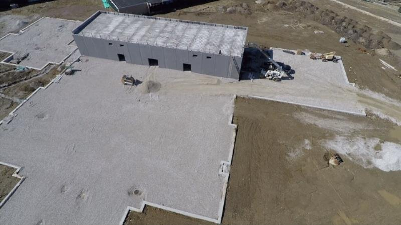 An aerial view of the Baldwin school site courtesy of the WGEM News Drone.