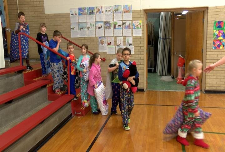 Pajama Day for the students.