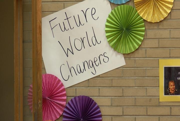 Students are working together to change the world.